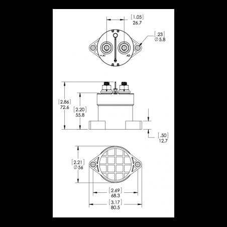 Gigavac GV200MA Contactor - 12V Internal Economizer